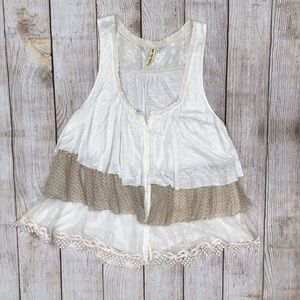 Free People | Flowy Layered Top | White | M